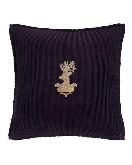 ralph lauren inverness bedding ralph home purple inverness stag pillow 18 quot sq