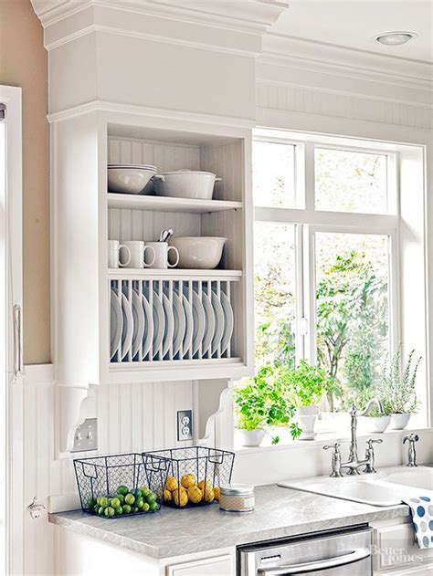 wall mounted kitchen plate storage rack   ideas