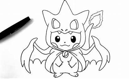 Pokemon Charizard Drawing Pikachu Drawings Mega Coloring