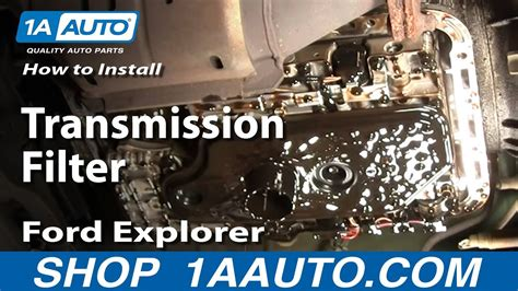 car maintenance manuals 2007 ford f250 electronic valve timing how to replace change transmission filter 95 01 ford explorer youtube