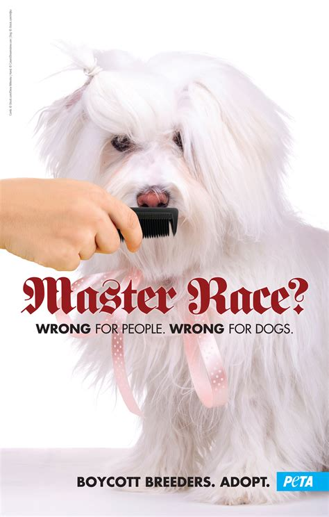 PETA Protests Westminster Dog Show With 'Master Race ...