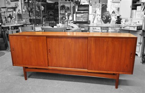 Teak Sideboard Buffet by Antiques On Kent Sold Vintage Teak Three Door Buffet