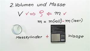 Gewicht Berechnen Dichte : bestimmung der dichte von fl ssigkeiten chemie online lernen ~ Themetempest.com Abrechnung