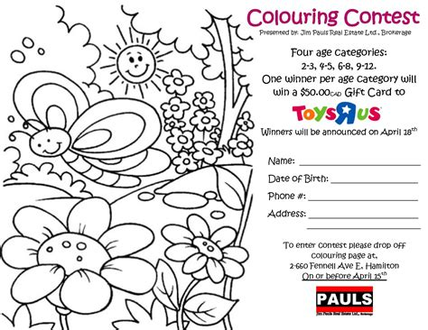 Coloring Contest by Crayons Contest Coloring Pages