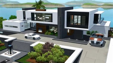 The Sims 3 Seaside Modern House NO CC Sims 4 modern