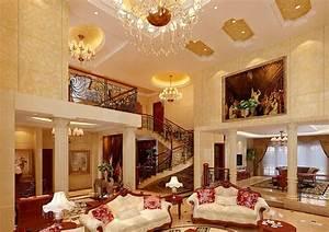 Mediterranean style luxury villa interior design 3D