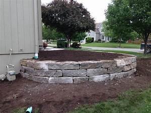 Stone Retaining Wall Flower Bed- Overland Park, KS ...
