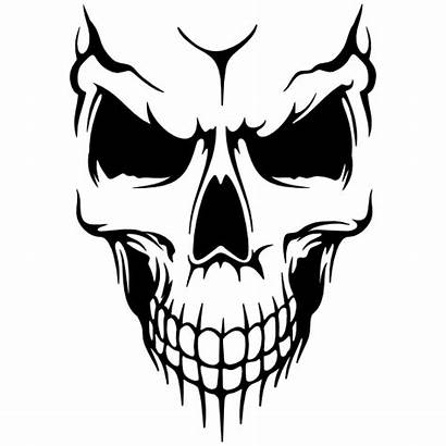 Skull Fading Lines Down Clipart