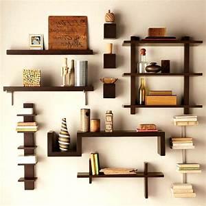 Kitchen wooden wall shelves amazing