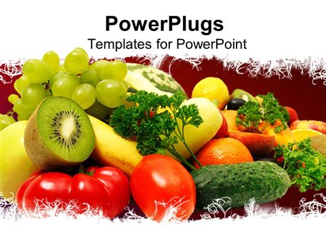 powerpoint template healthy eating