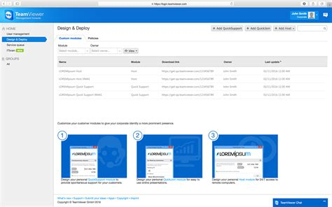 Teamviewer Console teamviewer custom modules