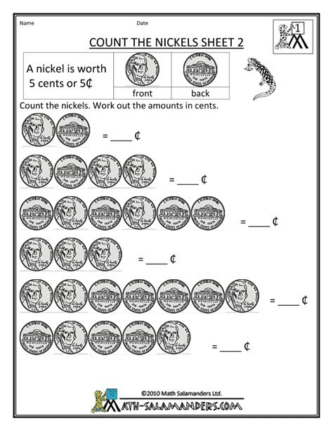 money activities worksheets on coins