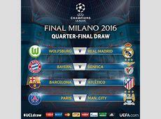 Quarts de finale de la champions League 2016 les matchs