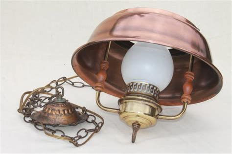 Vintage Farmhouse Kitchen Pendant Lamp, Hanging Light W/ Antique Copper Color Metal Shade Antique French Farmhouse Kitchen Tables Auction House Antiques Melbourne Dealers Meridian Ms Brimfield Show 2016 Archeology Items Paper Cutter Value Maine 2018 Phrenology Head Inkwell