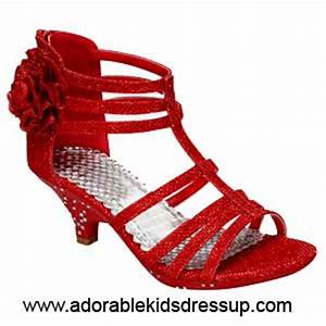 girls high heel shoes | red pageant heels for little girls