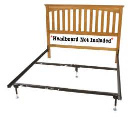 Glideaway Bed Frame by Queen Headboard Hook On Rail Set For Beds Without A Footboard