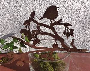 Deko Für Vasen : v gel auf ast deko f r schalen vasen rusty passion ~ Orissabook.com Haus und Dekorationen