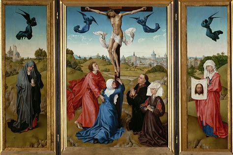 file rogier van der weyden triptych the crucifixion