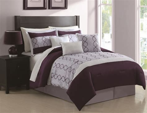28 Best  Plum Comforter Sets King  Gold Collection 8