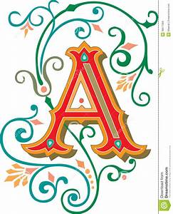 Beautiful Ornament, Letter A Royalty Free Stock Images ...