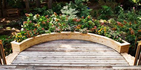 curved planter boxes    wooden planter boxes