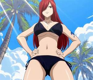Erza scarlet, black bikini, fairy tail 2 | Cute Anime ...