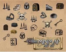 Treasure Map Symbols Minimap art kit game master s campaign - rpg art      Treasure Map Icons