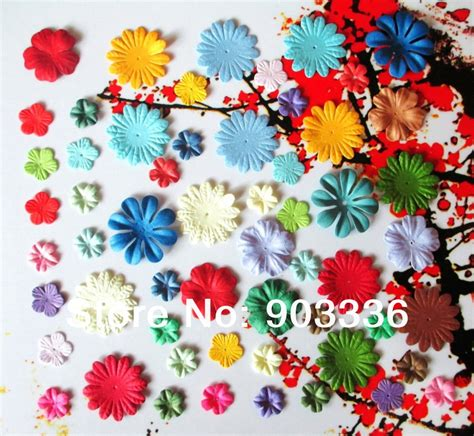 buy craft paper flowers  scrapbooking