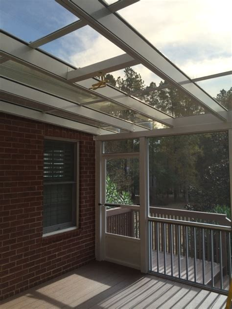 Glass Porch Roof by Glass Roof Patio Cover And Screened Porch Augusta Ga
