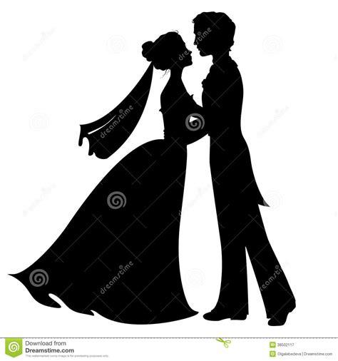black and white south six silhouettes des jeunes mariés image stock image du