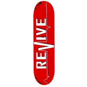 revive lifeline skateboard deck red revive skateboards