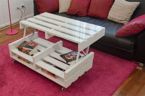 Table basse relevable  Meubles en palette  20 idu00e9es pour vous inspirer - Linternaute