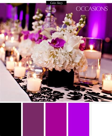 sophisticated black white and purple quinceanera the