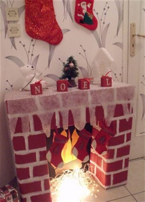 faire une fausse cheminee en carton pour noel
