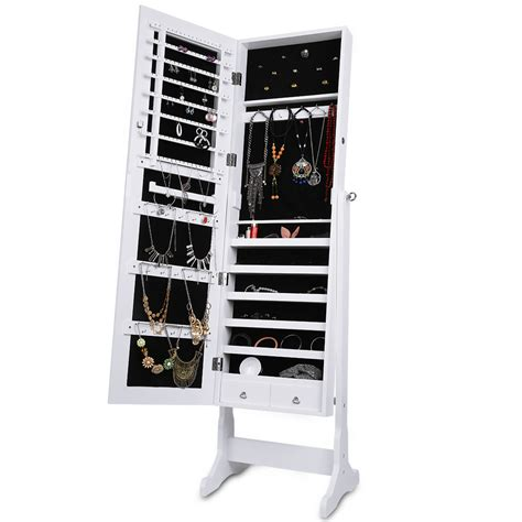 Organiser Armoire by Standing Jewelry Storage Box Jewellery Cabinet Armoire