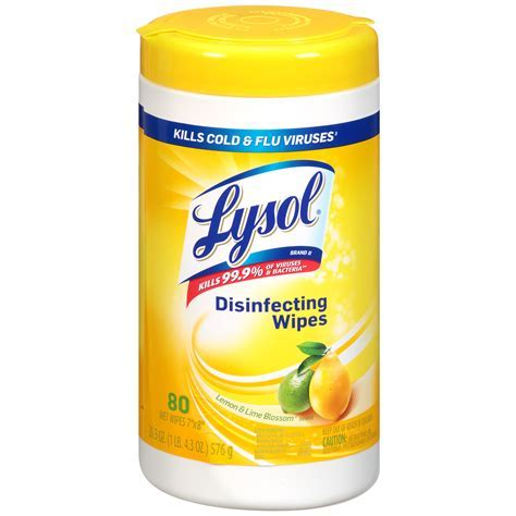 Lysol Disinfecting Wipes, Citrus Scent, 80 wipes