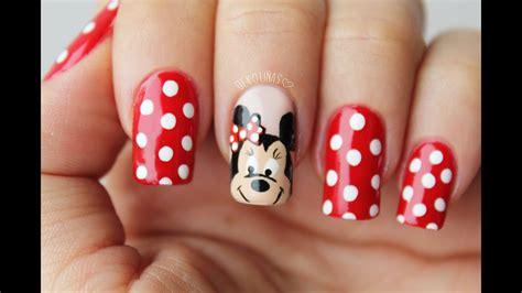 Los 20 mejores diseños para uñas degradadas. Minnie mouse nail art / Decoracion de uñas minnie mouse - YouTube