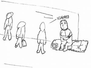 Homeless Simple Coloring Pages