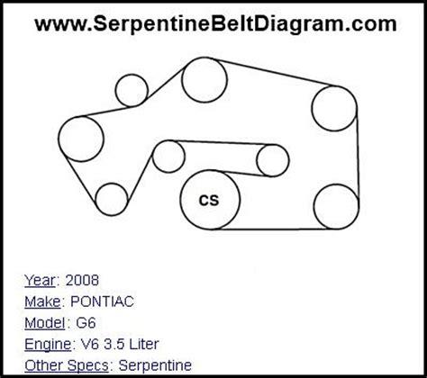 similiar 2007 pontiac g6 belt routing keywords this pontiac g6 belt diagram is for model year 2008 v6 3 5 liter