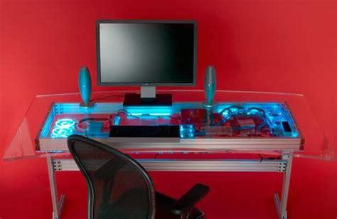 high tech computer desk liquid cooled combined computer and desk design