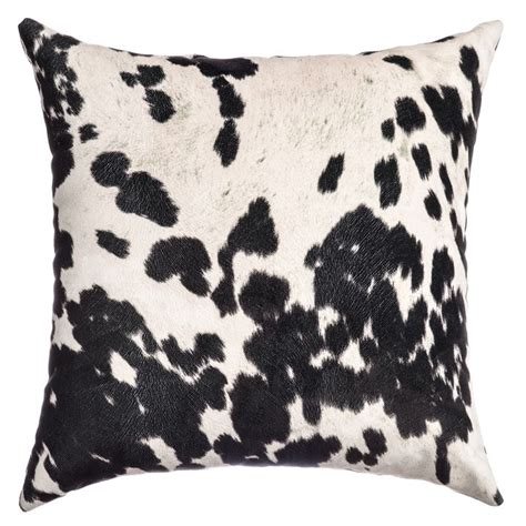 faux cowhide pillows ss faux cow hide feather filled throw pillow set of 2
