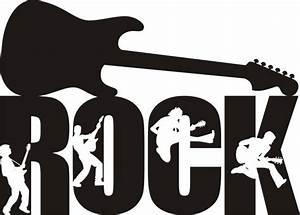 Rock guitar decal silhouette sticker