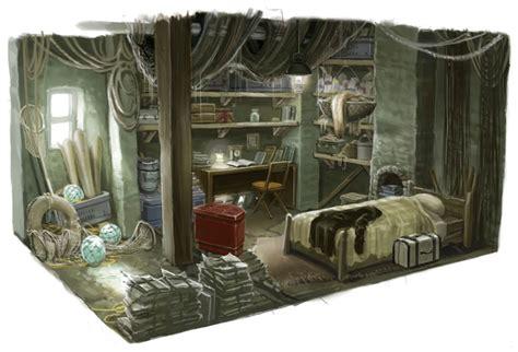 bedroom interior characters art folklore