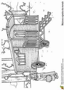 Maison Japonaise Dessin : coloriage maison monde caravane tzigane sur ~ Melissatoandfro.com Idées de Décoration