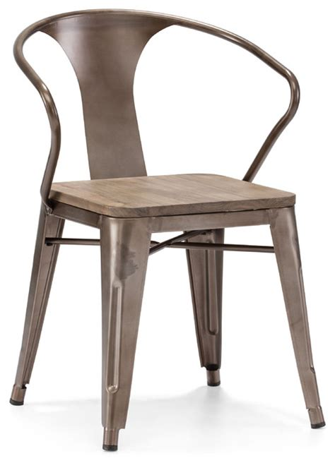 helix chair rustic wood set of 2 industrial dining