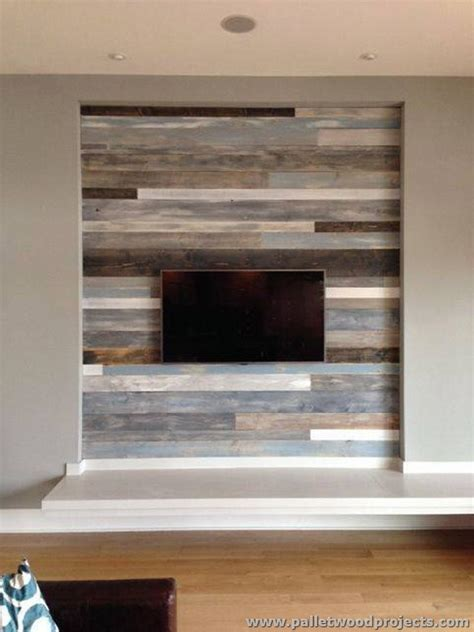 tv accent wall accent wall made out of pallets pallet wood projects