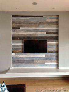 accent wall made out of pallets pallet wood projects With barnwood tv wall