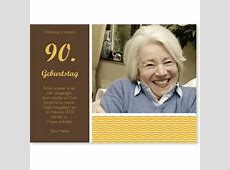 Einladungen zum 90 Geburtstag edel & klassisch
