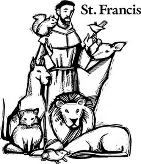st francis of assisi coloring pages for catholic family