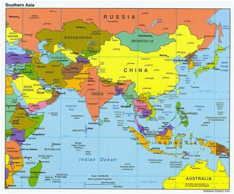 map  southern asia  indian ocean  pacific ocean